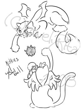 KItties with Soul Ball by LovelyRita515
