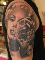 Marilyn Tattoo by ElectricLinda