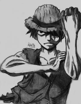 Monkey D. Luffy- One Piece by rapperfree