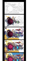 kid Icarus Uprising - Basic Step-By-Step by HeavyMetalHanzo