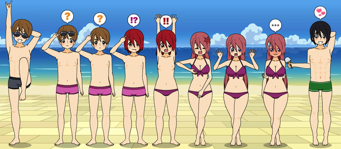 The Beach: TG Transformation sequence by MGabeN
