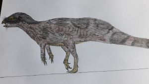 Dinosaurian monkey-rat by paleosir