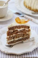 Tropical cake with pineapple by kupenska
