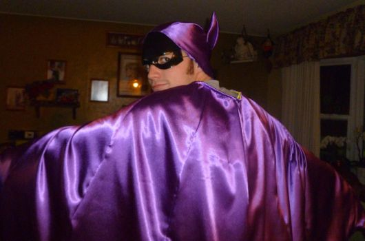 Batgirl Cape Hood Mask Test 5 by Linksliltri4ce