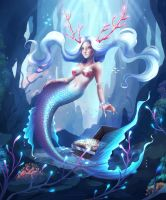Mermaid coloring contest by Nekiw
