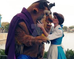 Beast and Belle Kiss by lulii13omg