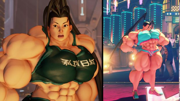 Sporty Ibuki Muscle Mod Commission by Ripped-Pixels