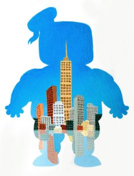 Stay Puft Skyline. by betsybauer