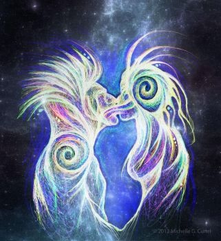 Cosmic Kiss by artisticalshell