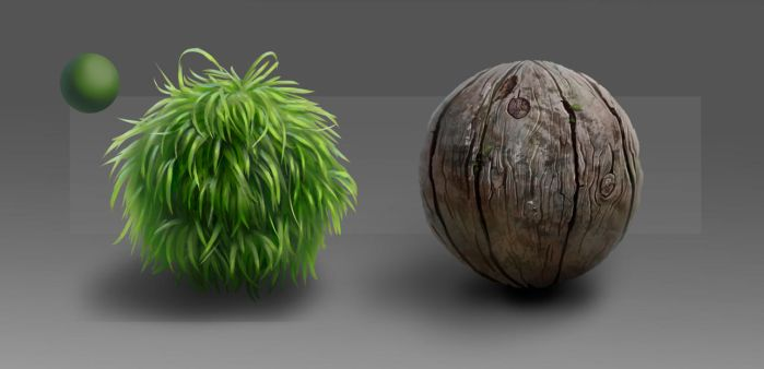 Material Studies: Grass and Wood by sweptaway91