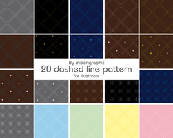 20 dashed line pattern by midorigraphic