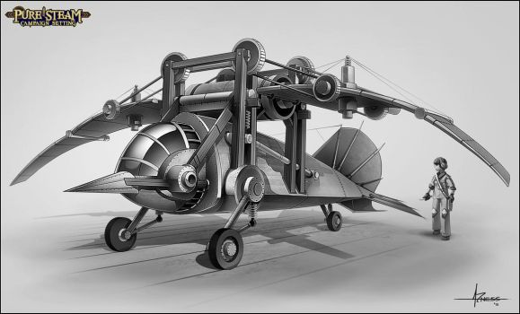 PURE STEAM - Orinthopter by 47ness