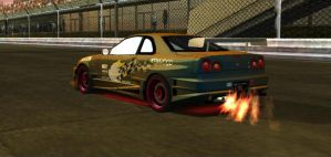 Skyline G-TR at the track by Street-Racer