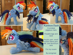 Rainbow Dash Crochet Pony by zomgmad