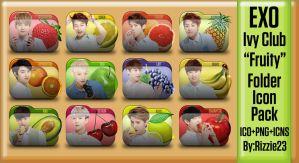 EXO Ivy Club Fruity Folder Icon Pack by Rizzie23