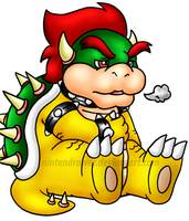 just bowser by Nintendrawer
