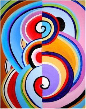 Inspired by Delaunay - I by HuShLoOp