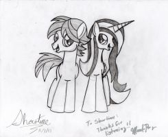 Mandopony and Showtime by ShowtimeandCoal