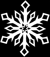 Let it snow-Classic Snowflake by Cheekydesignz