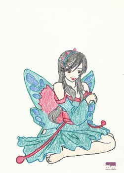 Butterfly colored by lemora16