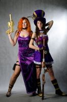 Caitlyn, Miss Fortune (cosplay League of Legends) by eiphen