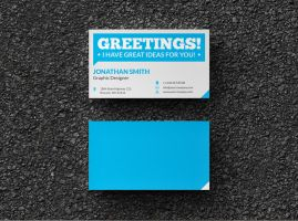 Flat Creative Business Card by nazdrag
