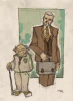 STAR WARS 80s High School Re-Design - Yoda+Kenobi by DenisM79