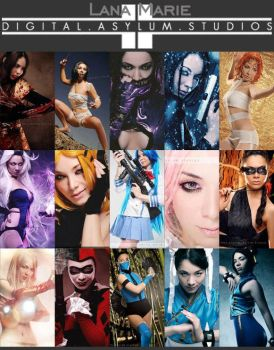 My cosplays through the year with Digital Asylum! by LanaMarieLive