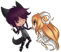 GC: Wolf and Sheep by kanookies