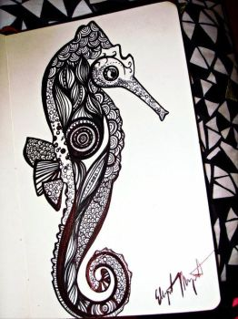 Seahorse by oxceanwxaves