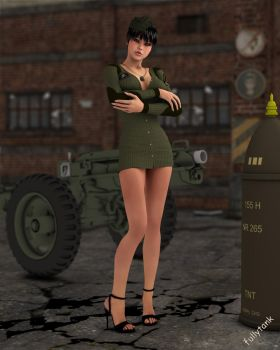 Military girl - remake 2013 by fullytank