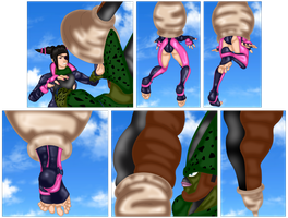 Cell Absorbs Juri! by SoleSwallower