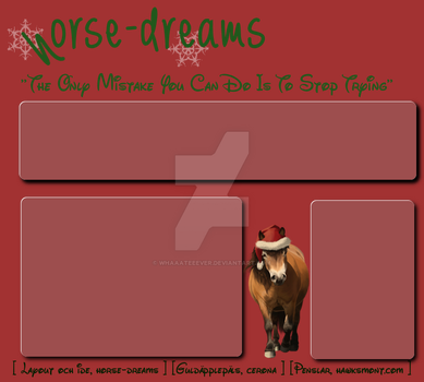One more layout, christmas by Whaaateeever