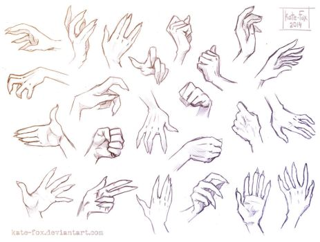 Hand study 1 by Kate-FoX