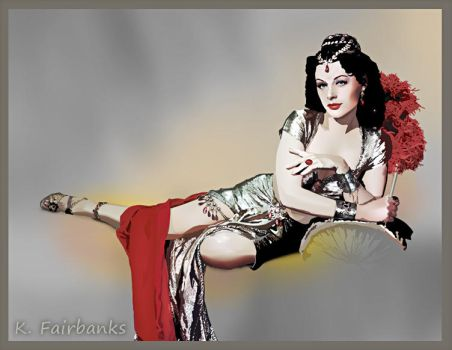Hedy Lamarr as Delilah (vector drawing) by eyeqandy