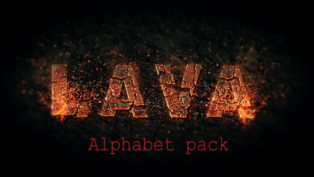 Lava Alphabetical Pack by Cristian79