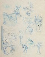 Collected Sketches 11-4-2012 2 by ryanmalm