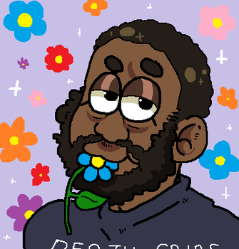 the lead rapper of death grips eating a flower by Wolvesies