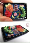 Polymer Clay Sashimi Tray and Dragon Roll by Talty