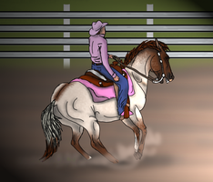 Flyboy at Windfall Winter Rodeo -Reining by angry-horse-for-life