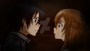 Kirito - Asuna: Forever together by PaardinGalop