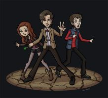 Time Traveling Trio by taneel