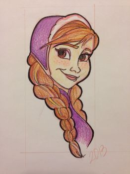 Anna colored by GilmoreFriends