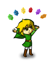 Link's many ruppees by Jrynkows