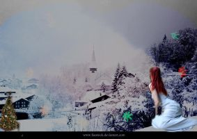 alone in the  snow by rochele10
