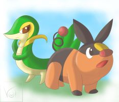 .:Tepig and Snivy:.