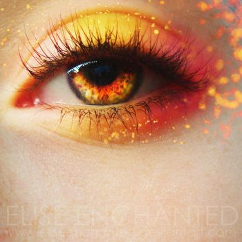 The fire in her eyes by EliseEnchanted