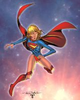 Supergirl - colors by Juan fernandez by SpiderGuile