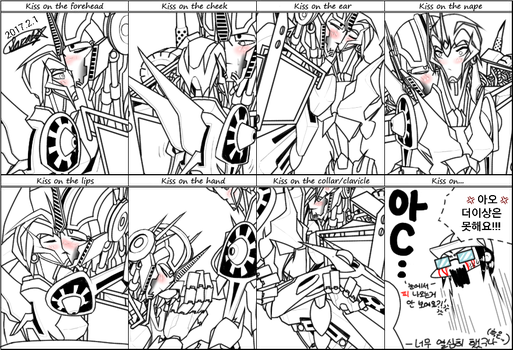 Arcee x Optimus Kiss Meme by ammi2002