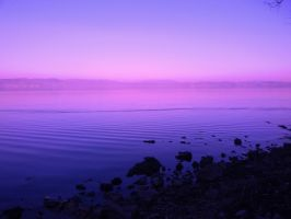 Lake in Blue and Magenta by SoulShapedFace